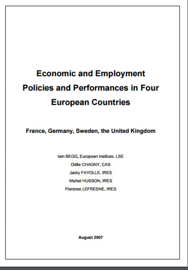 Economic and Employment Policies and Performances in Four European Countries : France, Germany, Sweden, the United kingdom
