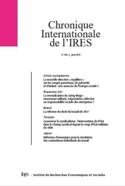 Parution de la Chronique internationale de l'IRES N°166