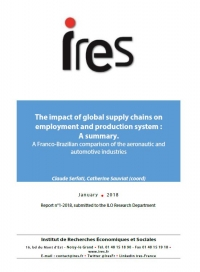 Report 01.2018, The impact of global supply chains on employment and production system : A summary.
