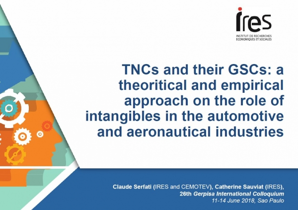 TNCs and their GSCs: a theoritical and empirical approach on the role of intangibles in the automotive and aeronautical industries