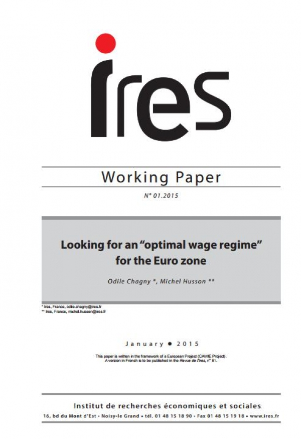 "N° 01.2015 - Looking for an ""optimal wage regime"" for the Euro zone"