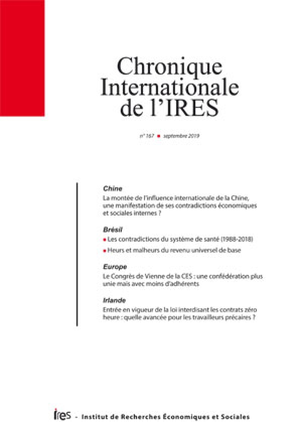 Parution de la Chronique internationale de l'IRES N°167