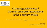Changing preferences? German employer associations in the «asylum crisis»