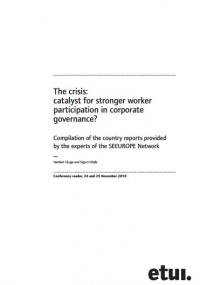The crisis: catalyst for stronger worker participation in corporate governance ?