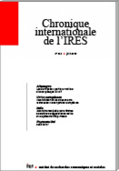 Parution de la Chronique internationale de l'IRES N° 162