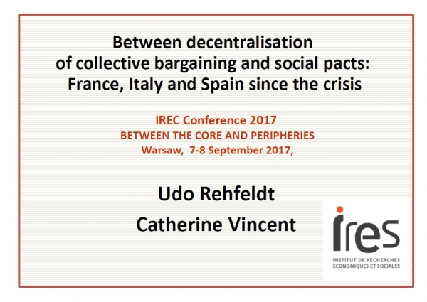 Between decentralisation of collective bargaining and social pacts: France, Italy and Spain since the crisis