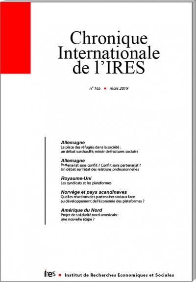 Parution de la Chronique internationale de l'IRES N°165