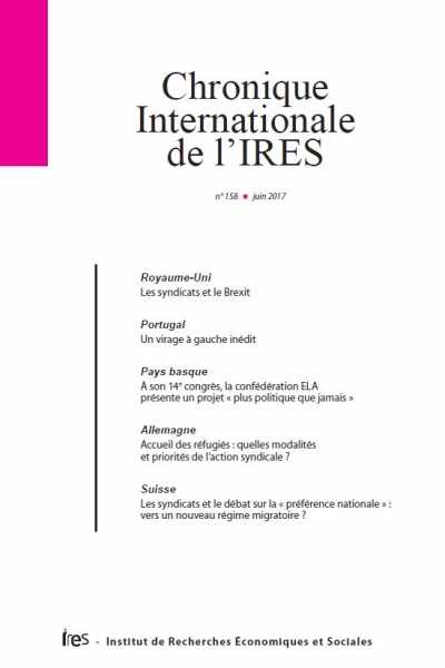 Parution de la Chronique internationale de l'IRES N° 158